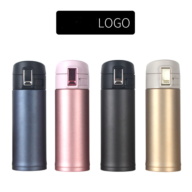 350 450ml wide mouth portable coffee cup original stainless steel gold black plated thermos vacuum flask with lid