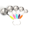 Kitchen baking cookies tools metal 430 stainless steel silicone purple measuring spoon/scoop