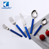 Cathylin modern colorful handle stainless steel hotel cutlery set